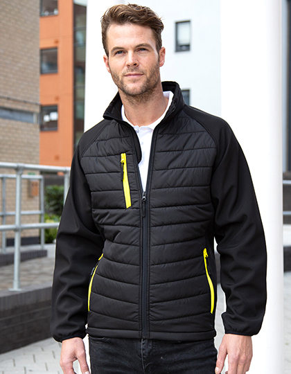 Black Compass Padded Soft Shell Jacket